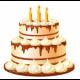 Свечи для торта, сервировка стола