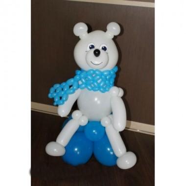 Белый мишка с шарфом (предварительный заказ)