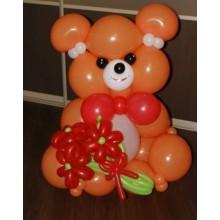 Мишка большой с букетом (предварительный заказ)