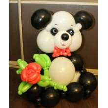 Панда большая с цветком (предварительный заказ)