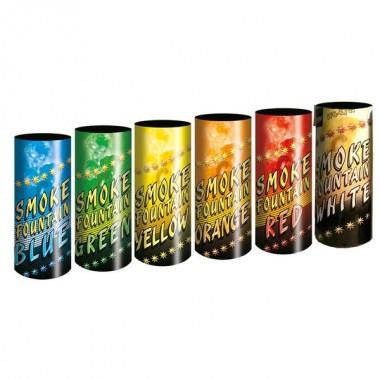 Цветной дым Smoke fountain - набор из 6 цветов