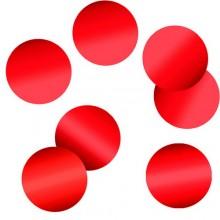 Конфетти круги красные 4см