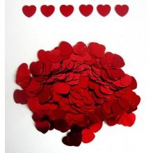 Конфетти  сердца большие красные