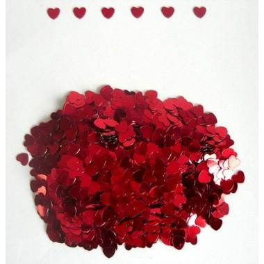 Конфети  сердца маленькие красные
