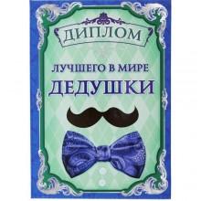 """Димлом """"Лучший в мире дедушка"""" 15*21 см"""