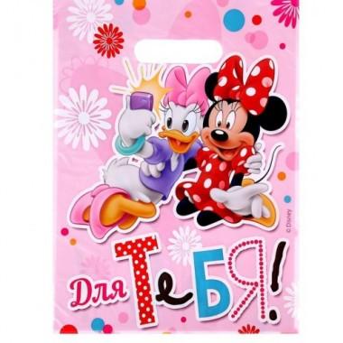 """Пакет подарочный полиэтиленовый Мини и Дэйзи """"Для тебя!"""" (22*29 см)"""