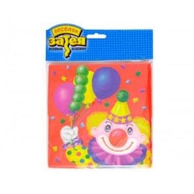 """Салфетки """"Клоун с шарами"""", 33 см, 12 шт"""
