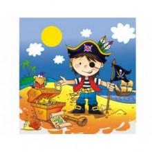 """Салфетки """"Маленький пират"""", 33 см, 12 шт."""