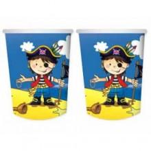 """Набор бумажных стаканов """"Маленький пират"""", 250 мл, 6 шт"""
