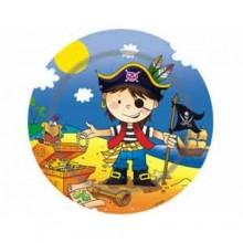 """Набор бумажных тарелок """"Маленький пират"""", 17 см, 6 шт."""
