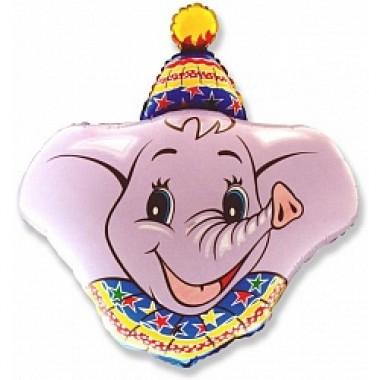 "Шар с гелием (94 см) ""Голова слона"""