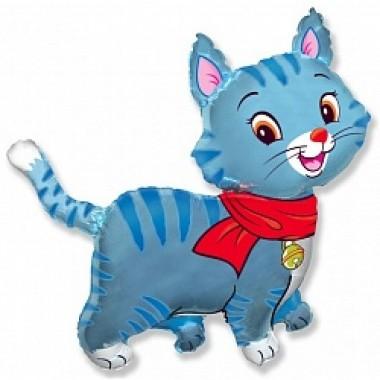 """Шар с гелием (81 см) """"Любимый котенок, синий"""""""