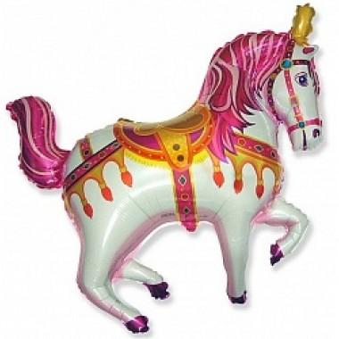 "Шар с гелием (99 см) ""Лошадь ярмарочная, фуше"""