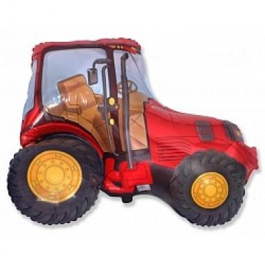 """Шар с гелием (97 см) """"Трактор, красный"""""""
