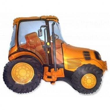 """Шар с гелием (97 см) """"Трактор оранжевый"""""""