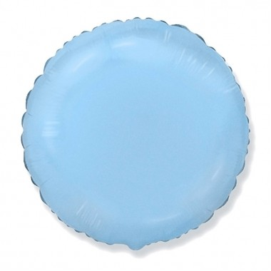 "Круг Светло-Голубой 18"" (48 см) (Rnd Blue baby)"