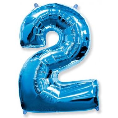 """Цифра """"2"""" (102 см) синий"""