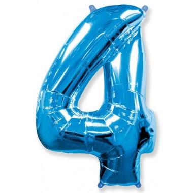 """Цифра """"4"""" (102 см) синий"""