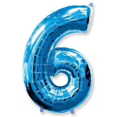 """Цифра """"6"""" (102 см) синий"""