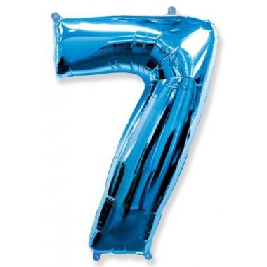 """Цифра """"7"""" (102 см) синий"""