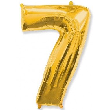 """Цифра """"7"""" (102 см) золото"""