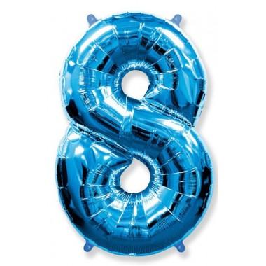 """Цифра """"8"""" (102 см) синий"""