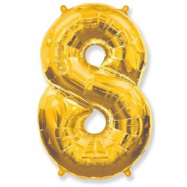 """Цифра """"8"""" (102 см) золото"""