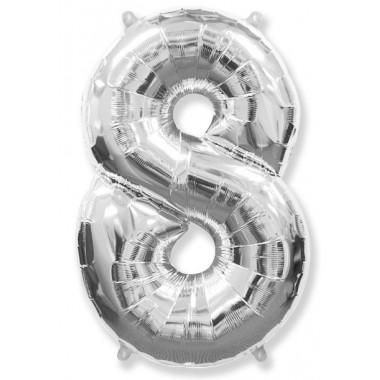 "Цифра ""8"" (102 см) серебро"