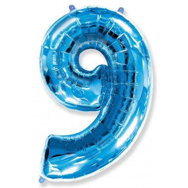 """Цифра """"9"""" (102 см) синий"""
