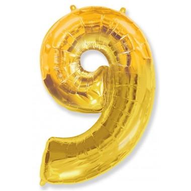 """Цифра """"9"""" (102 см) золото"""
