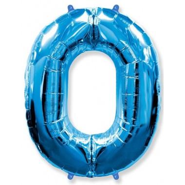 """Цифра """"0"""" (102 см) синий"""