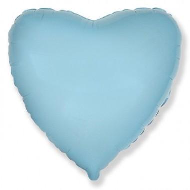"""Сердце Светло-голубой 18"""" (48 см) (Heart Baby blue)"""