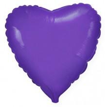 """Сердце Фиолетовый 18"""" (48 см) (Heart Violet Flex Metal)"""