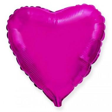"""Сердце Лиловый 18"""" (48 см) (Heart Purple Flex Metal)"""