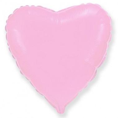 """Сердце Розовый 18"""" (48 см) (Pink Hearts Flex Metal)"""