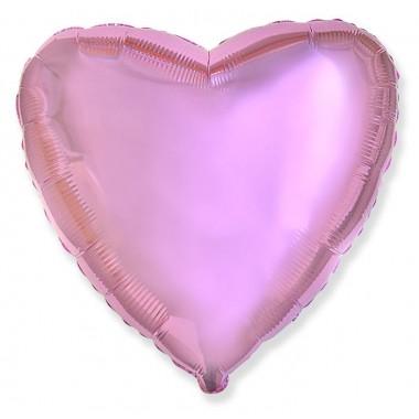 """Сердце Розовый нежный 18"""" (48 см) (Light Pink Flex Metal)"""