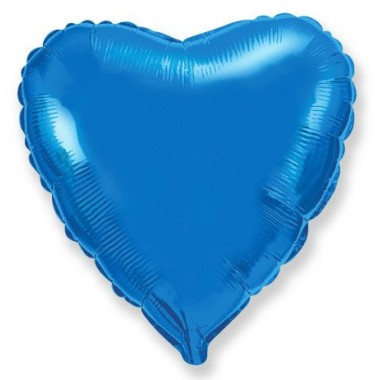 "Сердце Синий 18"" (48 см) (Heart Blue Flex Metal)"