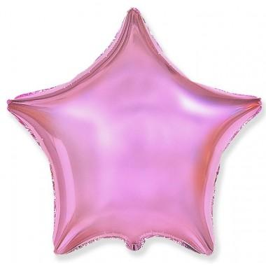 """Звезда Розовый нежный 18"""" (48 см) (Light Pink Flex Metal)"""