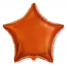 """Звезда Оранжевый 18"""" (48 см) (Star Orange Flex Metal)"""