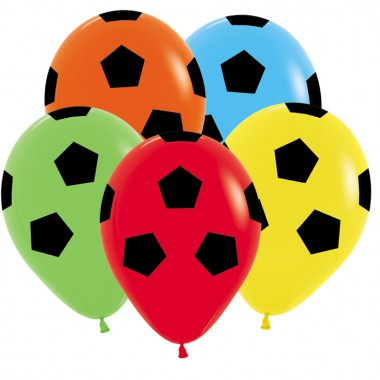 Шар Футбольный мяч, Ассорти 30 см. с гелием