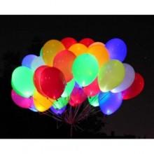 Воздушные шары с подсветкой и гелием в ассортименте